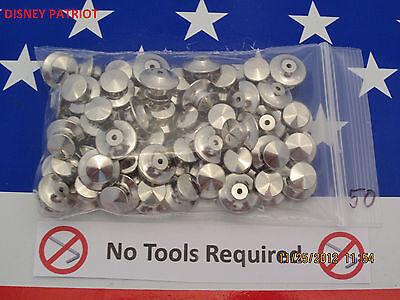 50 Locking Pin Backs for Disney pins!  USA Seller, LOW PROFILE,  NO TOOLS req'd