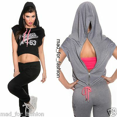 Stunning Sleeveless Hoodie Top with back Zip. UK 8/10 12/14 EU 36/38 40/42.