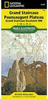 National Geographic Trails Illustrated UT Grand Staircase Paunsaugunt Map 714