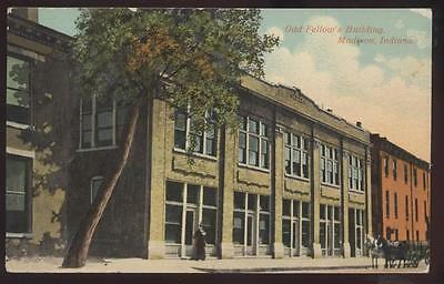 Postcard MADISON,Indiana/IN   I.O.O.F. Odd Fellows Building view 1907?