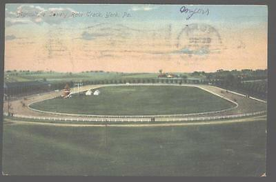 Postcard YORK Pennsylvania/PA Fair Groumds Horse Race Track 1907