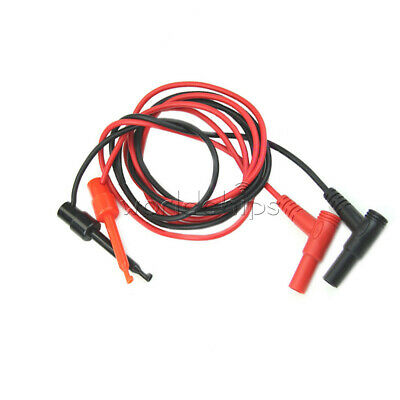 1Pair Banana Plug To Test Hook Clip Probe Cable Fr Multimeter Test Equipment