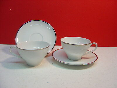 Kenmark China PATRICIAN Two Cup and Saucer Sets