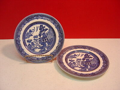 Johnson Brothers WILLOW BLUE Two Bread and Butter Plates