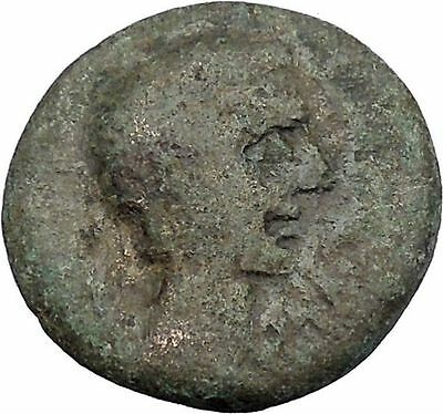 AUGUSTUS 27BC Thessaly Koinon Larissa ATHENA Authentic Ancient Roman Coin i47239