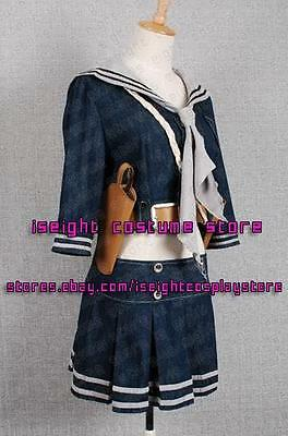 Sucker Punch Uniform Emily Browning Babydoll Costume Dress Tailor Made of Denim