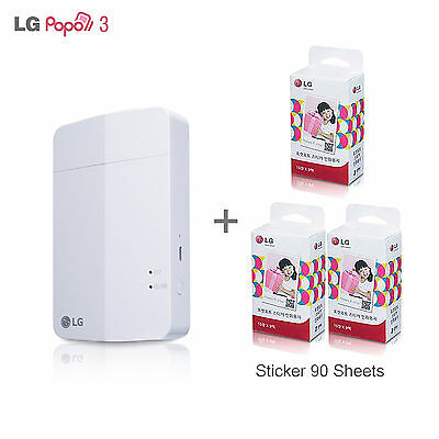 LG Pocket Photo3 PD251 [White]+ STICKER 90 Sheets -- Next version of PD239