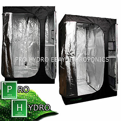 Pro Growroom PG120C 1.2m x 0.9m x 1.8cm Hydroponic Grow Room Tent Silver