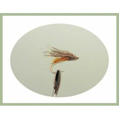 6 Streaking Caddis Trout Flies, Hook Size 10/12. For Fly Fishing