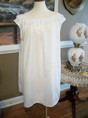Civil War Dress Victorian Underpinnings Lady's White 100% Cotton Chemise~1 Size