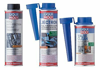 Liqui Moly Gasoline Valve & Injection Cleaner & Motor Oil MoS2 Anti-Friction Kit