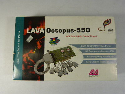 LAVA Octopus-550 Serial Board 8-Port with Cables  NEW