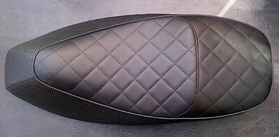 Vespa Gts 125/250/ Custom Seat Cover New Style With Quilted Top
