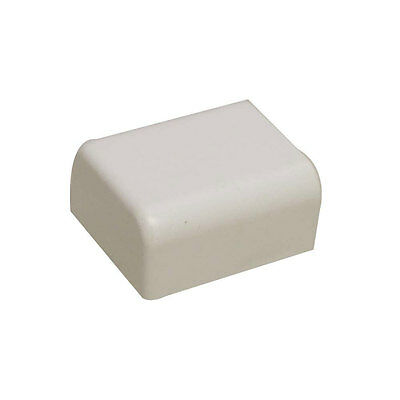 "Quest FEC-71412 Raceway End Cap 1/2"" White 2 Pcs."