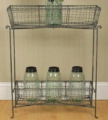 Vintage Inspired Farmhouse Wire Stand