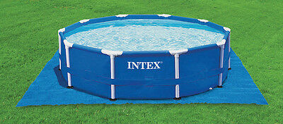 Frame Pool Komplett Set Rondo, INTEX Stahl Rohr Rahmen Pool, 732 x 132 cm