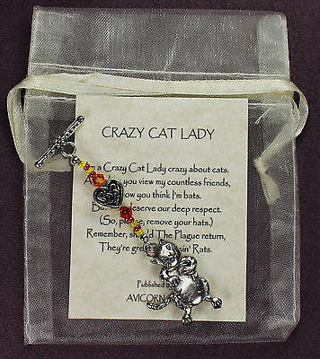 CRAZY CAT LADY CHARM Amulet Talisman Symbol Kitten Kitty Dangler Rhyme LAST ONE