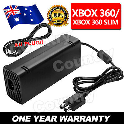 AU AC Adapter Power Supply Cord Cable For Xbox 360 Slim Charger 135W Brick
