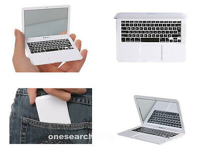 Mini Silver Pocket MacBook Air Laptop Clear Glass Women Cosmetic Beauty Mirror