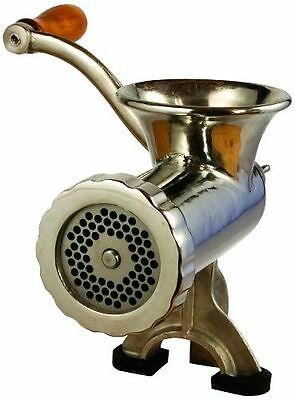 Meat Hand Grinder Heavy Duty Stainless Steel Clamp-on and Rust Resistant NEW