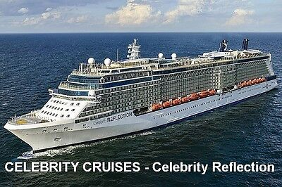 SOUVENIR FRIDGE MAGNET of CRUISE SHIP CELEBRITY REFLECTION - CELEBRITY CRUISES