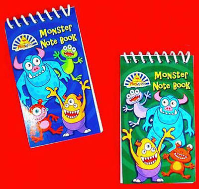 6 Monster Notebooks - Pinata Toy Loot/Party Bag Fillers Wedding/Kids
