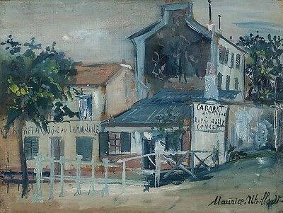 MAURICE UTRILLO, French (1883-1955), Le Lapin Agile, Mixed media on w... Lot 122