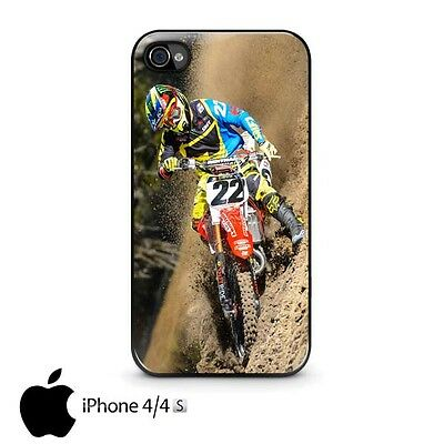 Chad Reed 22 Motocross Rider Custom iPhone 4/4s, 5/5s, 5C, 6 and 6 plus Case