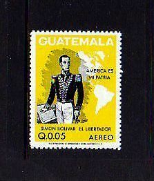 Guatemala - 1973 - Simon  Bolivar - Map - C506 - Mint - Mnh Single