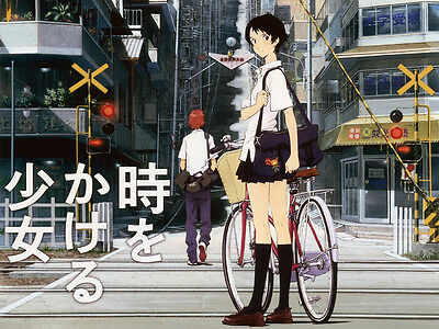 0428 The Girl Who Leapt Through Tim Japanese Anime A3 A4 Poster Art Print