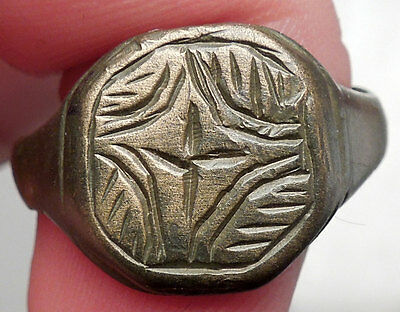 Ancient Medieval Byzantine Era Christian Cross Ring Artifact 1200-1400AD i49272