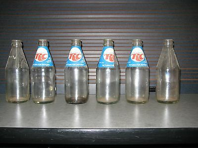 Royal Crown Cola Six Pack Carrier w/ 10oz Bottles, late 1960's