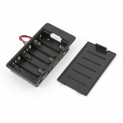 """5.7"""" 2-Wire In Series 6 x 1.5V AA Battery Holder Box Storage Case"""