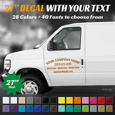 "27"" Custom Car, Truck Door & Rear Window Decal Business Name Vinyl Sign, Decal"