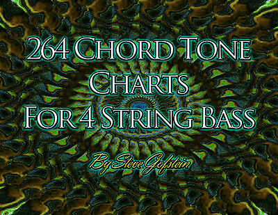 2 BOOK BUNDLE 4 String Bass Guitar Scales And Mode Charts And Chord ...