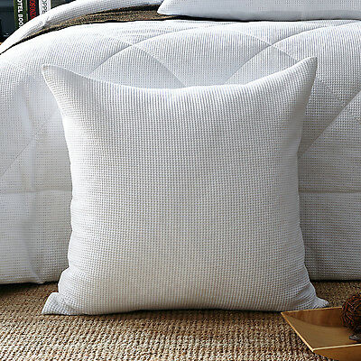 New 100% cotton Luxury Waffle European Pillowcase Cushion cover White