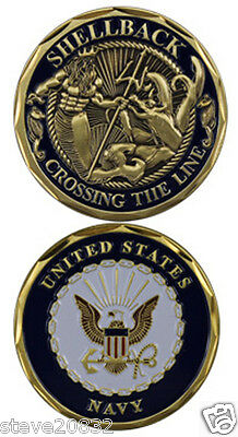 NEW U.S. Navy Shellback Crossing the Line Challenge Coin. 3097.