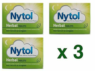 3 x 30 Nytol Herbal Sleep Aid Tablets - Insomnia Sleeping Natural - 90 Tablets