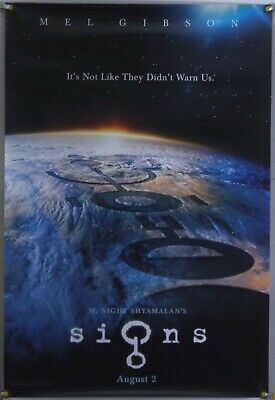 Signs Ds Rolled Adv Orig 1Sh Movie Poster Mel Gibson Joaquin Phoenix (2002)
