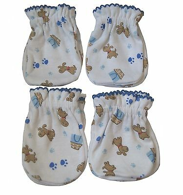 4 Pairs Newborn Baby/infant Anti-scratch Cotton Mittens Gloves---Little Dog
