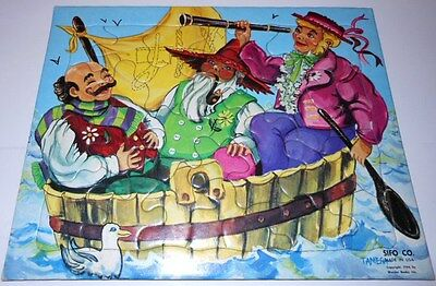 Vintage 1954 Sifo Co. Wonder Books puzzle gigsaw Three Men in a Tub