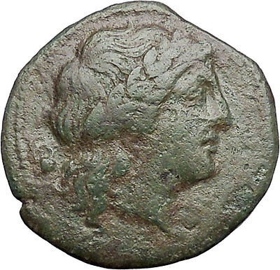MESSANAN SICILY 241BC Apollo Nike MAMERTINI Authentic Ancient Greek Coin i49196