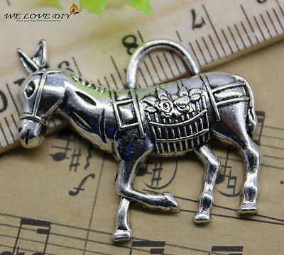 Free shipping retro style lovely donkey alloy charms pendants