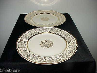 2 Pickard 510 Gold Decorated Dinner Plates NEVER USED