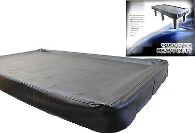 Black Heavy Duty 8ft TABLE COVER Pool Snooker Billiards