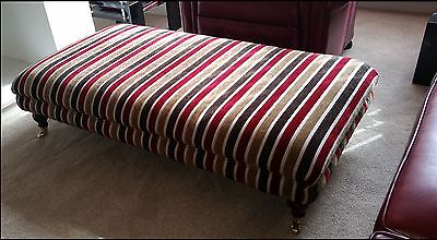Extra Large Windsor Footstool / Coffee Table Velvet Stripe Or Your Own Fabric