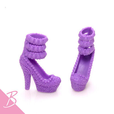 Shoes/Boots Purple Ankle strap High Heels for Mattel Barbie NEW #0391