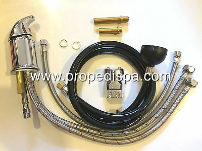 Hair salon shampoo bowl faucet , sprayer hose fixture & UPC vacuum breaker set