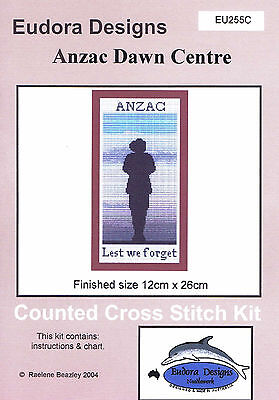 """Anzac Dawn Centre"" Counted Cross Stitch Chart EU255C"