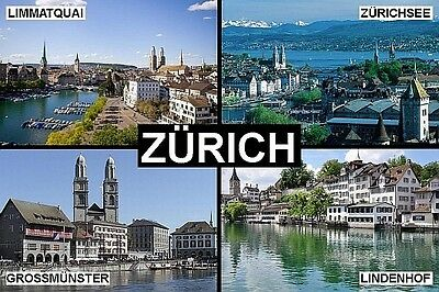 SOUVENIR FRIDGE MAGNET of ZURICH SWITZERLAND